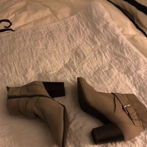 GRAY-Cole Haan Booties. Worn 1 time. EUC 8.5 B